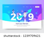 happy new year 2019... | Shutterstock .eps vector #1239709621