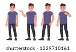 set of character a handsome...   Shutterstock .eps vector #1239710161