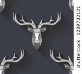 polygonal vector deer head.... | Shutterstock .eps vector #1239732121