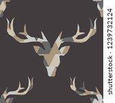 polygonal vector deer head.... | Shutterstock .eps vector #1239732124