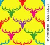 polygonal vector deer head.... | Shutterstock .eps vector #1239732127