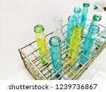 laboratory equipment chemists... | Shutterstock . vector #1239736867