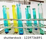 laboratory equipment chemists... | Shutterstock . vector #1239736891