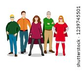 group of friends disguised as...   Shutterstock .eps vector #1239745501