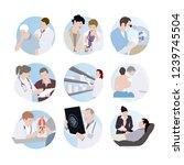 medical scenes. set of doctors. ...   Shutterstock .eps vector #1239745504