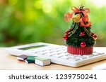 a beautifully decorated... | Shutterstock . vector #1239750241