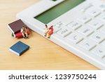 miniature people sitting on...   Shutterstock . vector #1239750244
