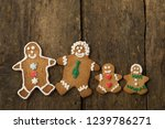 edible gingerbread family with... | Shutterstock . vector #1239786271