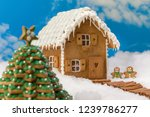cookie christmas tree and... | Shutterstock . vector #1239786277