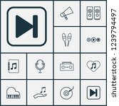 audio icons set with audio... | Shutterstock .eps vector #1239794497