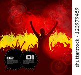 party people. concert crowd | Shutterstock .eps vector #123979459