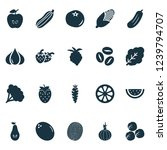 fruit icons set with pear ... | Shutterstock .eps vector #1239794707