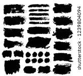 brush strokes. vector... | Shutterstock .eps vector #1239804094