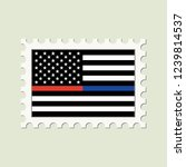 vector thin blue line   red... | Shutterstock .eps vector #1239814537