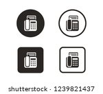 fax icon sign symbol | Shutterstock .eps vector #1239821437