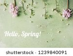 spring white pear blooming... | Shutterstock . vector #1239840091