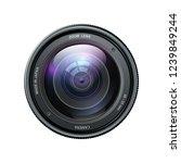 camera photo lens  camera lens... | Shutterstock .eps vector #1239849244