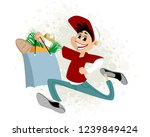 vector illustration of a young... | Shutterstock .eps vector #1239849424