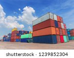 container in container... | Shutterstock . vector #1239852304