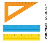 school instruments  rulers set. ... | Shutterstock . vector #1239876874