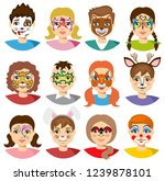 face painting kids. face... | Shutterstock .eps vector #1239878101