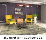 interior with chair. 3d... | Shutterstock . vector #1239884881