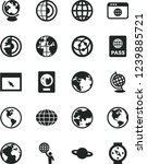 solid black vector icon set  ... | Shutterstock .eps vector #1239885721