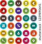 white solid icon set  bank... | Shutterstock .eps vector #1239890641