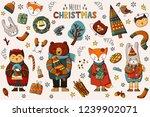 christmas set   new year... | Shutterstock .eps vector #1239902071