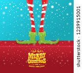 vector creative merry christmas ... | Shutterstock .eps vector #1239915001