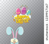 happy easter bunny with... | Shutterstock .eps vector #1239917167