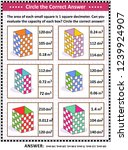 math skills and iq training... | Shutterstock .eps vector #1239924907