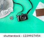 top view travel concept with... | Shutterstock . vector #1239927454