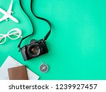 top view travel concept with... | Shutterstock . vector #1239927457