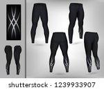 visual drawing of model pants... | Shutterstock .eps vector #1239933907
