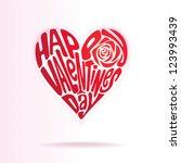 heart shape of text happy...