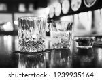 glasses of whisky | Shutterstock . vector #1239935164