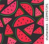 fresh fruits  hand drawn... | Shutterstock .eps vector #1239937291