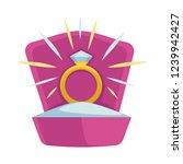 wedding proposal of man to... | Shutterstock .eps vector #1239942427