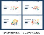 vector business outsourse... | Shutterstock .eps vector #1239943207