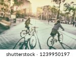 cycling in city | Shutterstock . vector #1239950197