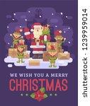 santa claus delivery service.... | Shutterstock .eps vector #1239959014