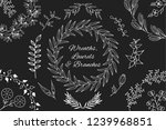 hand drawn floral branches ...   Shutterstock .eps vector #1239968851