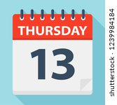 thursday 13   calendar icon.... | Shutterstock .eps vector #1239984184