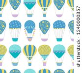 hot air balloon repeat pattern. ... | Shutterstock .eps vector #1240000357
