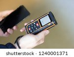 the measuring device in the... | Shutterstock . vector #1240001371