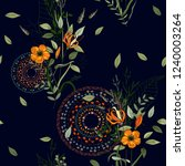 trendy seamless floral pattern. ... | Shutterstock .eps vector #1240003264