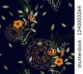 trendy seamless flower pattern. ... | Shutterstock .eps vector #1240003264