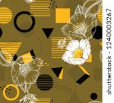 trendy polka dots seamless... | Shutterstock .eps vector #1240003267