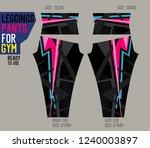 leggings pants for gym | Shutterstock .eps vector #1240003897